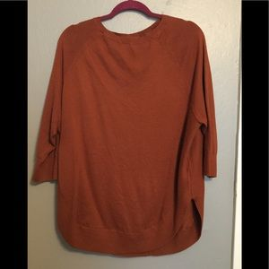 Beautiful burnt orange colored sweater
